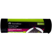 Carrefour Garbage Bags Black Drawstring Small 20 Bags