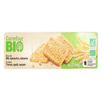 Carrefour Bio Organic Biscuits whole Wheat 170g
