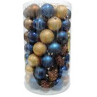 Balls Set 70Pcs /8cm Brown/Blue