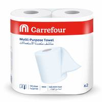 Carrefour Multi-Purpose Towel 120 Sheet 2 Ply 2 Rolls