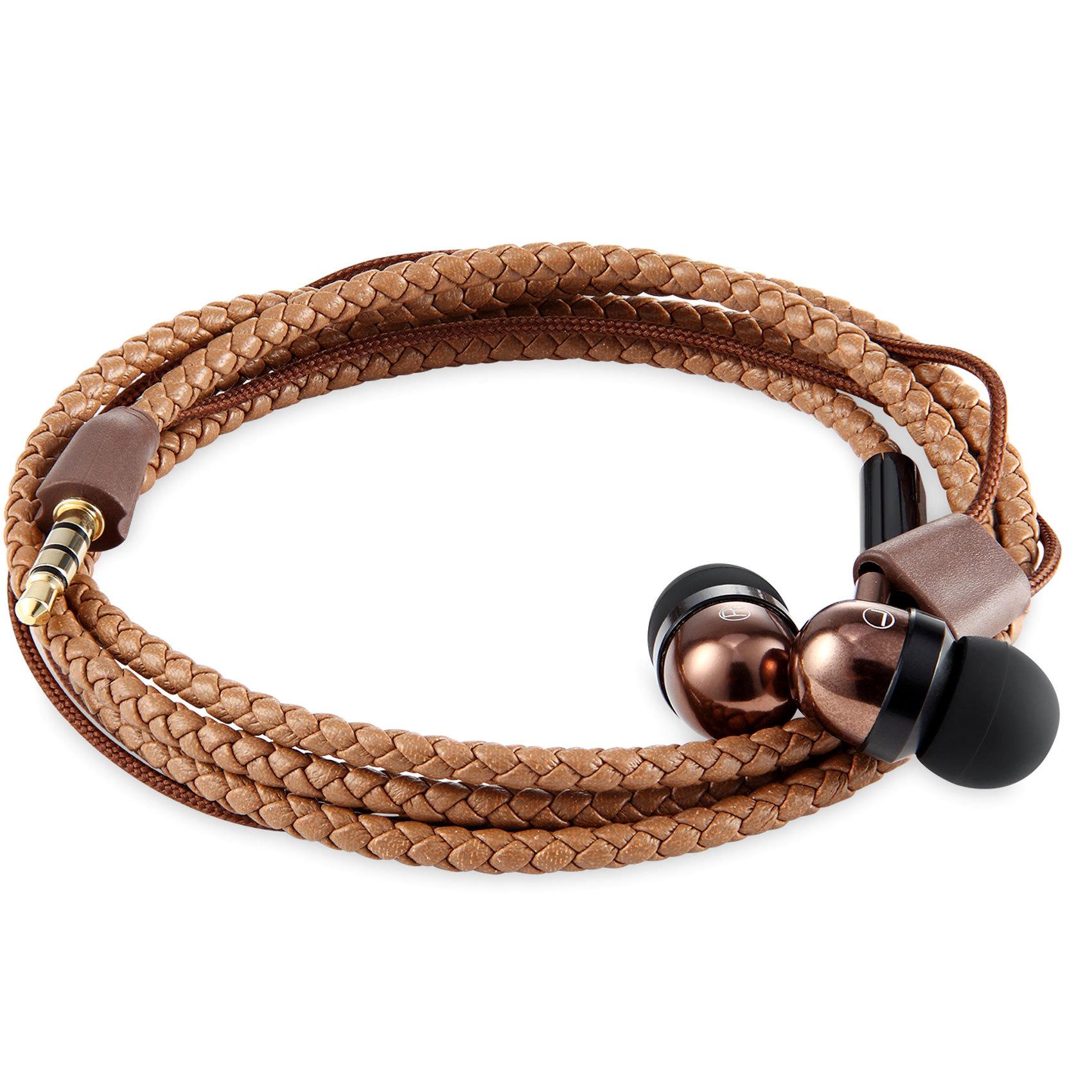 ZOOOK EARPHONE WRISTWRAP BROWN