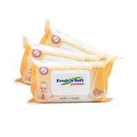 Fresh'N Soft Wipes Milk and Honey 60 Sheets 2+2 Free
