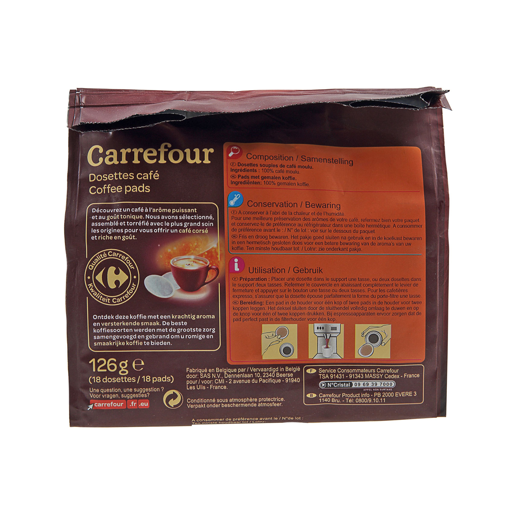 Buy Carrefour Strong Pods Coffee 18 39 S Online Shop Carrefour On