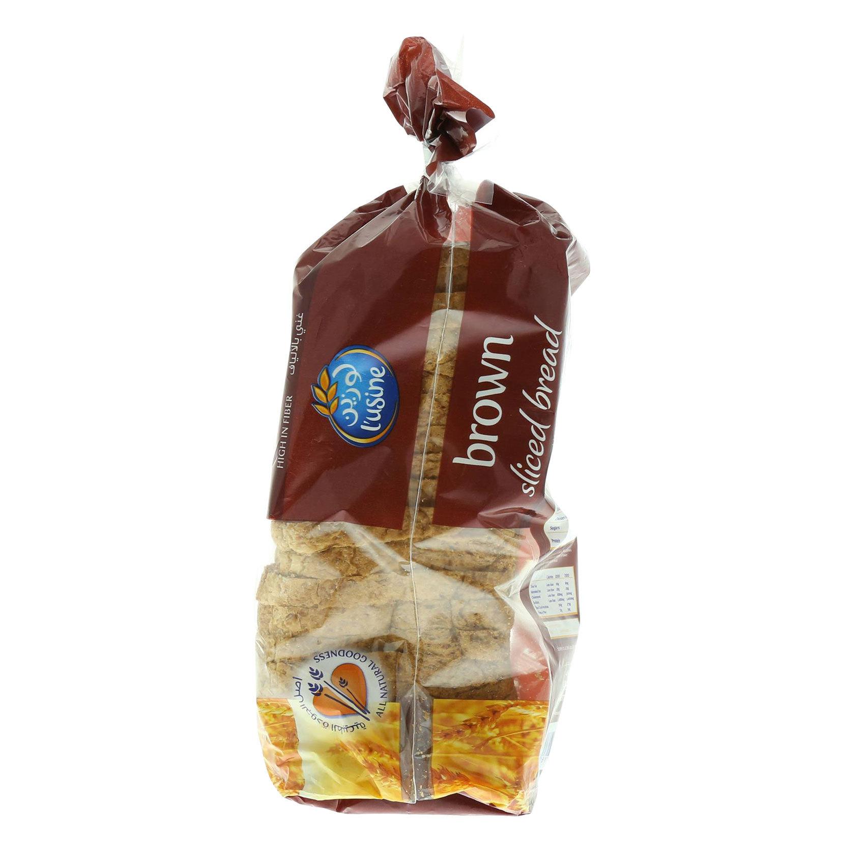 L'USINE BROWN SANDWICH BREAD 600 G