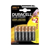 Duracell Plus Power Type AAA  Alkaline Battery 4+2 Free
