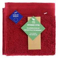 TEX Face Towel 30x30 Red Dark
