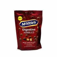 Mcvities digestive nibbles milk chocolate coated biscuit balls 120 g