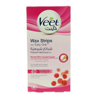 Veet Normal Skin Wax Strips With Easy Grip 40 Pieces