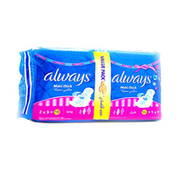 Always Ladies Pads Thick Long Value Pack 18 Napkins
