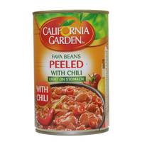 California Garden Fava Beans Peeled With Chili 450 g