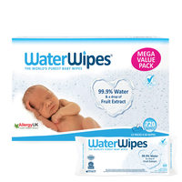 Water Wipes Baby Mega Value Box 12 Packs x 60 Wipes