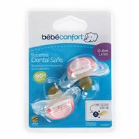 Bebeconfort Dental Safe Natural Rubber Soother Little Valleys ( 0-6 M ) x2