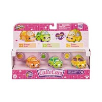 New Shopkins Cutie Cars Season 3 Pack Assorted 4 Pieces