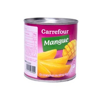 Carrefour Mango Tranches in Light Syrup 1/2