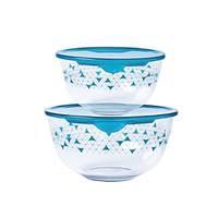 Pyrex Glass Mixing Bowl  2 Pieces