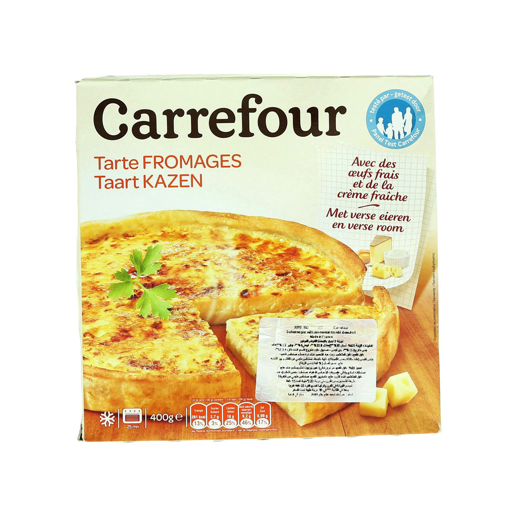 CRF TART 3 CHEESE 400G