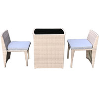 Ruxan Balcony Coffee Set With Cushion 3Pcs (Delivered In 7 Business Days)