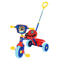 Spartan Paw Patrol Tricycle With Push Bar