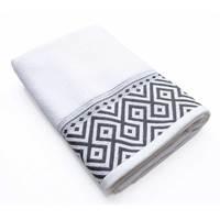 Cannon Bath Sheet White/Grey 81X163cm