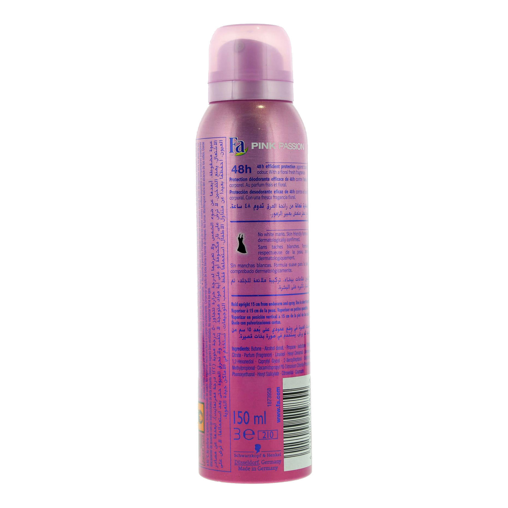 FA DEO SPRAY PINK PARADISE 150ML