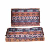 Leathar Tray Set Of 2 Pieces