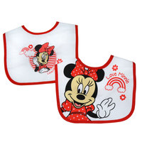 Minnie  2 Pack Polycotton Bibs