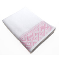Cannon Hand Towel White/Pink 50X100cm