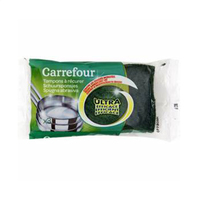 Carrefour Green Scouring Pads X3