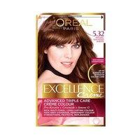 L'Oreal Paris Excellence Crème Hair Coloring Sun Kissed Auburn Brown 5.32