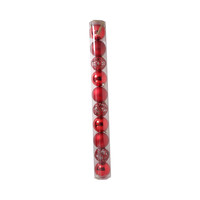 Christmas Hollow Ball Red 6 Cm 10 Pieces