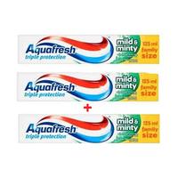 Aquafresh Toothpaste Mild & Minty 125ML X2 + 1F