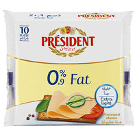 President 0% Fat Slice Cheese 200g
