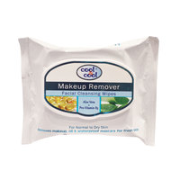 Cool & Cool Makeup Remover Facial Cleansing 25 Wipes