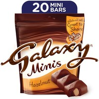 Galaxy® Minis Hazelnut Chocolate Mini Bars Pouch 250g (20 pcs)