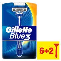 Gillette blue3 men's disposable razors 6+2 pieces