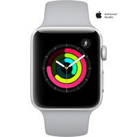 Apple Watch Series-3 42mm Silver Aluminium Case With Fog Sport Band
