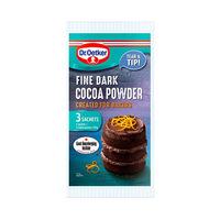 Dr. Oetker Fine Dark Cocoa Powder 3 Sachets 25GR X3