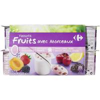 Carrefour Light Yoghurt Fruits 0% 125gx12