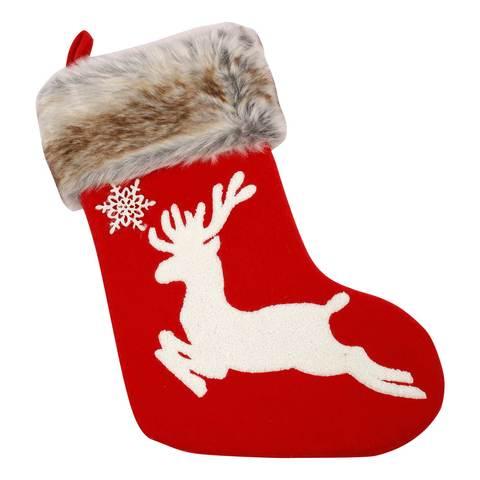 "Chamdol-Red-Xmas-18""-Reindeer-Stocking"