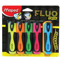 Maped Fluo Soft Highlighter 4Pc