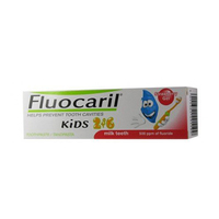 Fluocaril Toothpaste Straberry For Milk Teeth 2-6 Years Old Kids 50ML