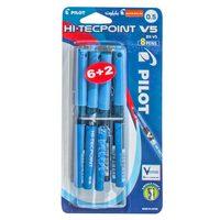 Pilot V5 Hi-Tec Pen .5 8Pcs