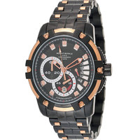 Mount Royale Men's Watch Black Dial Stainless Steel Band Sport -10603
