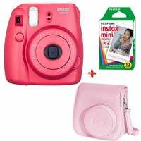 Fujifilm Instax Camera Mini 8 Raspberry + Case + Film