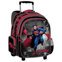 """Super Man - Trolley Bag 18"""" Bk-Rd"""