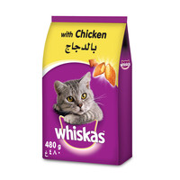 Whiskas Chicken Dry  Cat Food Adult 1+ years 480g