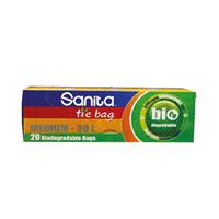 Sanita Tie Bag 20 Biodegradable Bags Medium-30L