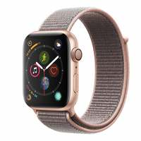 AppleWatch Series-4 GPS+Cellular 44mm Gold Aluminium Case with Pink Sand Sport Loop (MTVX2AE/A)