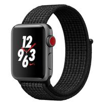 Apple Watch Series-3 42mm Nike+ GPS+ Cellular Space Gray Aluminium Case With Black/Pure Platinum Nike Sport Loop (MQMH2AE/A)