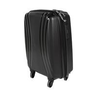 تراك هاي حقيبة سفر خامة صلبة 4 عجلات مقاس 19 انش لون أسود